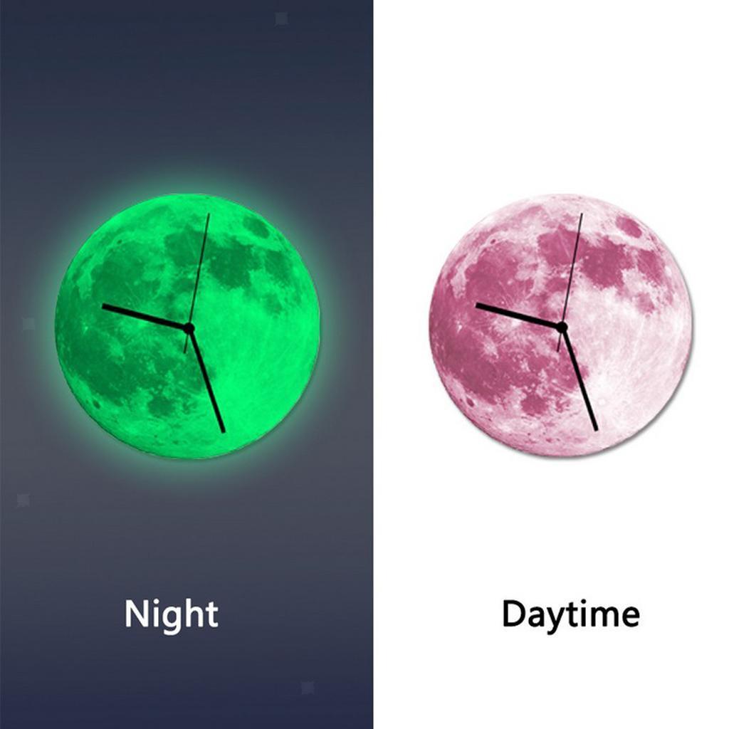 Indoor-Decorative-Wall-Clock-12inch-Luminous-Moon-Battery-Operated-Silent thumbnail 19