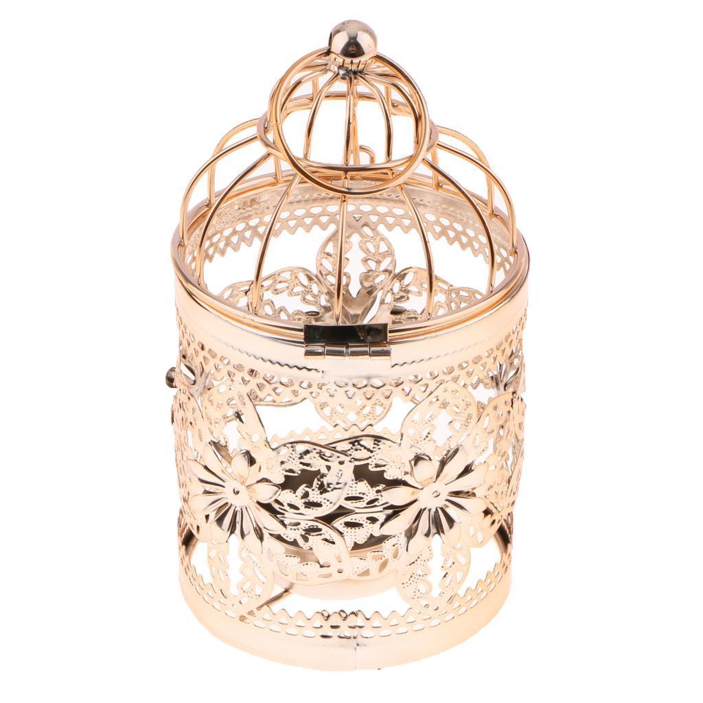 Hollowed-Flower-Metal-Tealight-Candlestick-Birdcage-Candle-Holder thumbnail 27