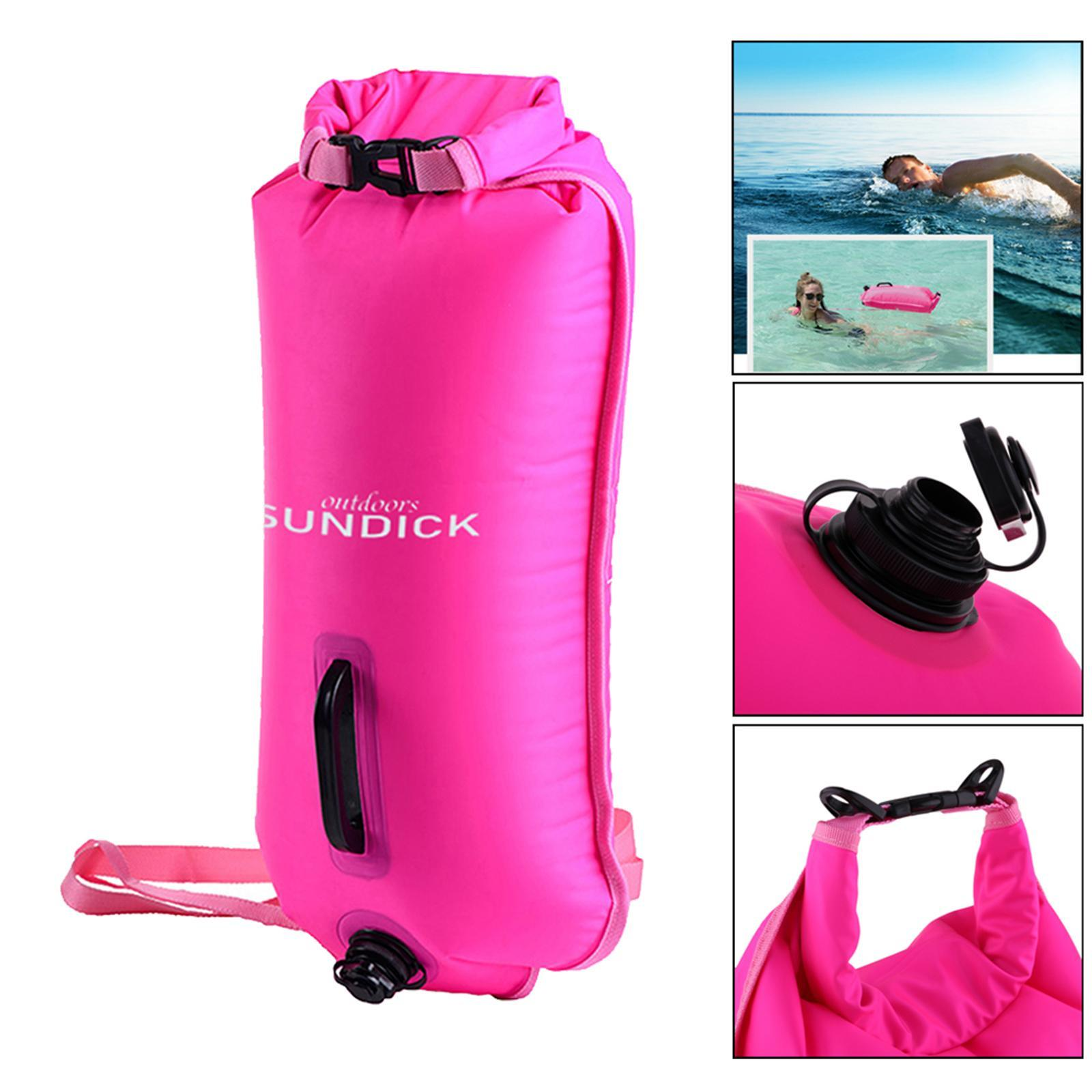 Safety-Swim-Buoy-Dry-Bag-Tow-Float-for-Open-Water-Swimmer-Swimming-Training thumbnail 11