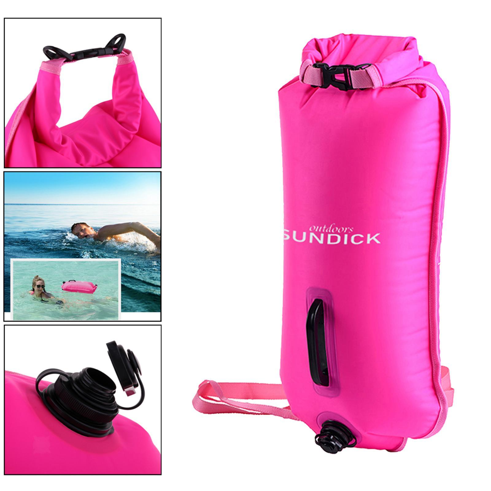 Safety-Swim-Buoy-Dry-Bag-Tow-Float-for-Open-Water-Swimmer-Swimming-Training thumbnail 8