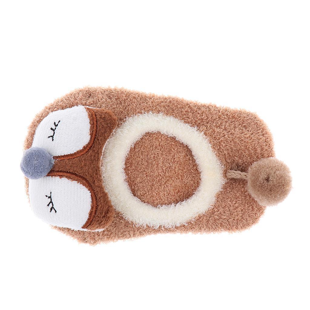 Chaussons-Bebe-Chaussettes-Bateaux-Antiderapant-Cartoon-Chaud-Pompon-Coton-Doux miniature 15