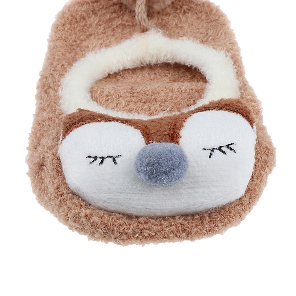 Chaussons-Bebe-Chaussettes-Bateaux-Antiderapant-Cartoon-Chaud-Pompon-Coton-Doux miniature 17