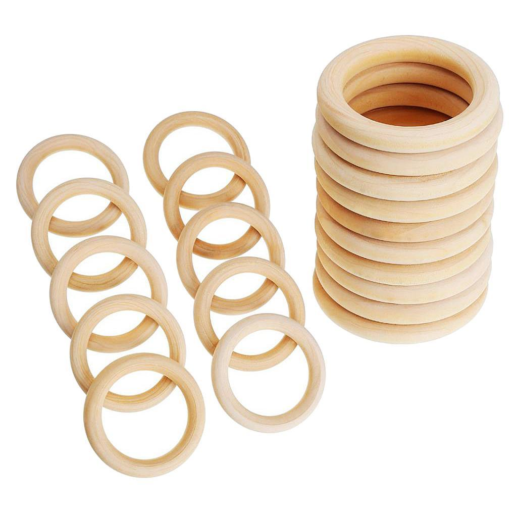 20xBaby-Natural-Unfinished-Wooden-Teether-Toddler-Teething-Ring-Toys-DIY-Crafts thumbnail 56