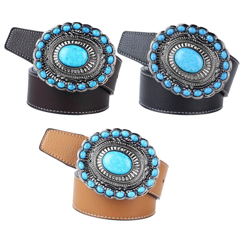 Cintura-da-cintura-con-fibbia-in-pelle-di-Bohemian-Western-Cowboy-PU miniatura 15