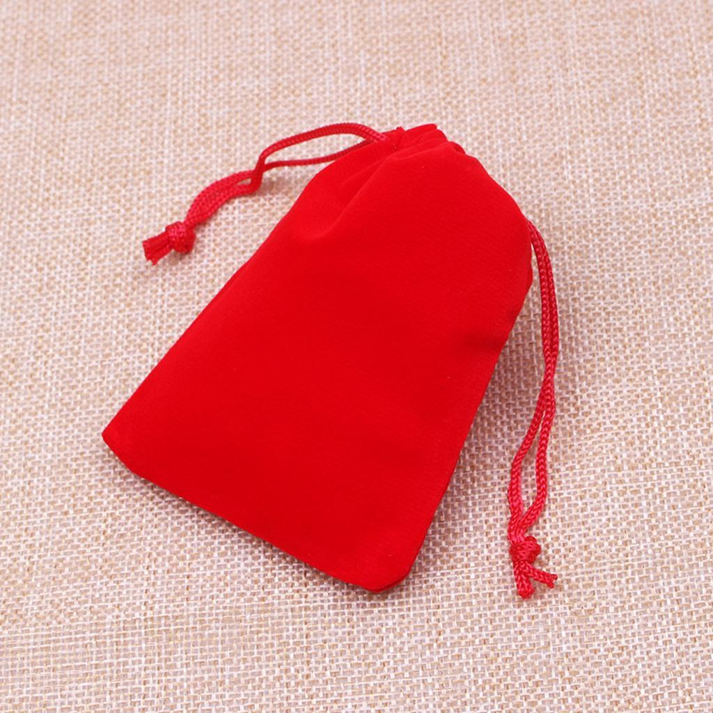 50pcs-Brillant-Velours-Bijoux-avec-cordon-de-serrage-Sac-Cadeau-Pochettes-Mariage-Anniversaire miniature 3