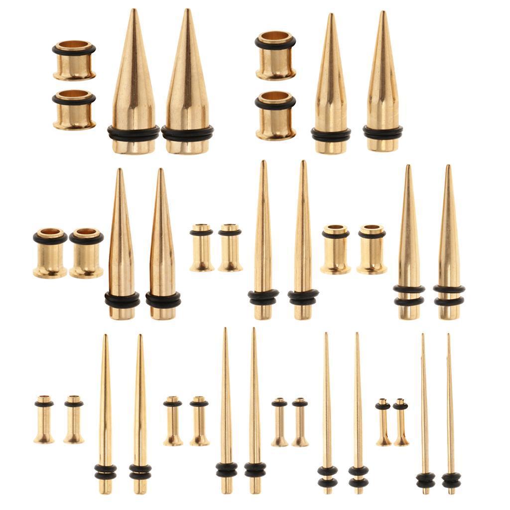 4-Pz-Orecchini-Tappi-Con-Disegno-Conico-In-Acciaio-Inox-Attrezzi-Gioiellieri miniatura 4