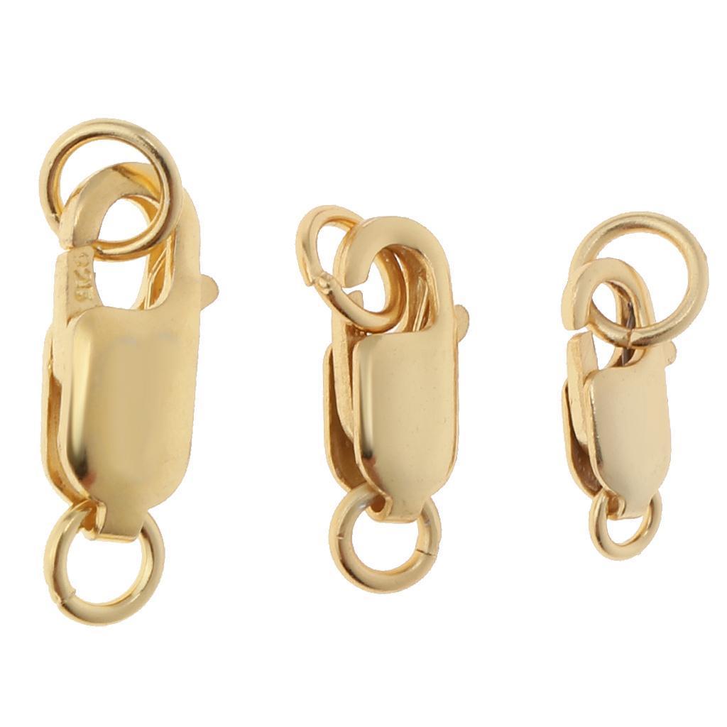 miniature 14 - Fermeture Bricolage Bijoux Fermoir Boucle Ressort Fermoir