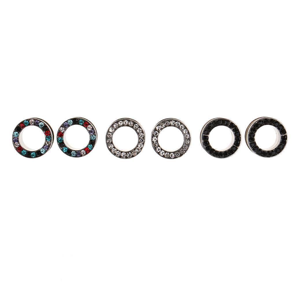 3-coppie-di-tappi-per-orecchie-in-acciaio-inox-Vite-per-tunnel-Tappi-per miniatura 10