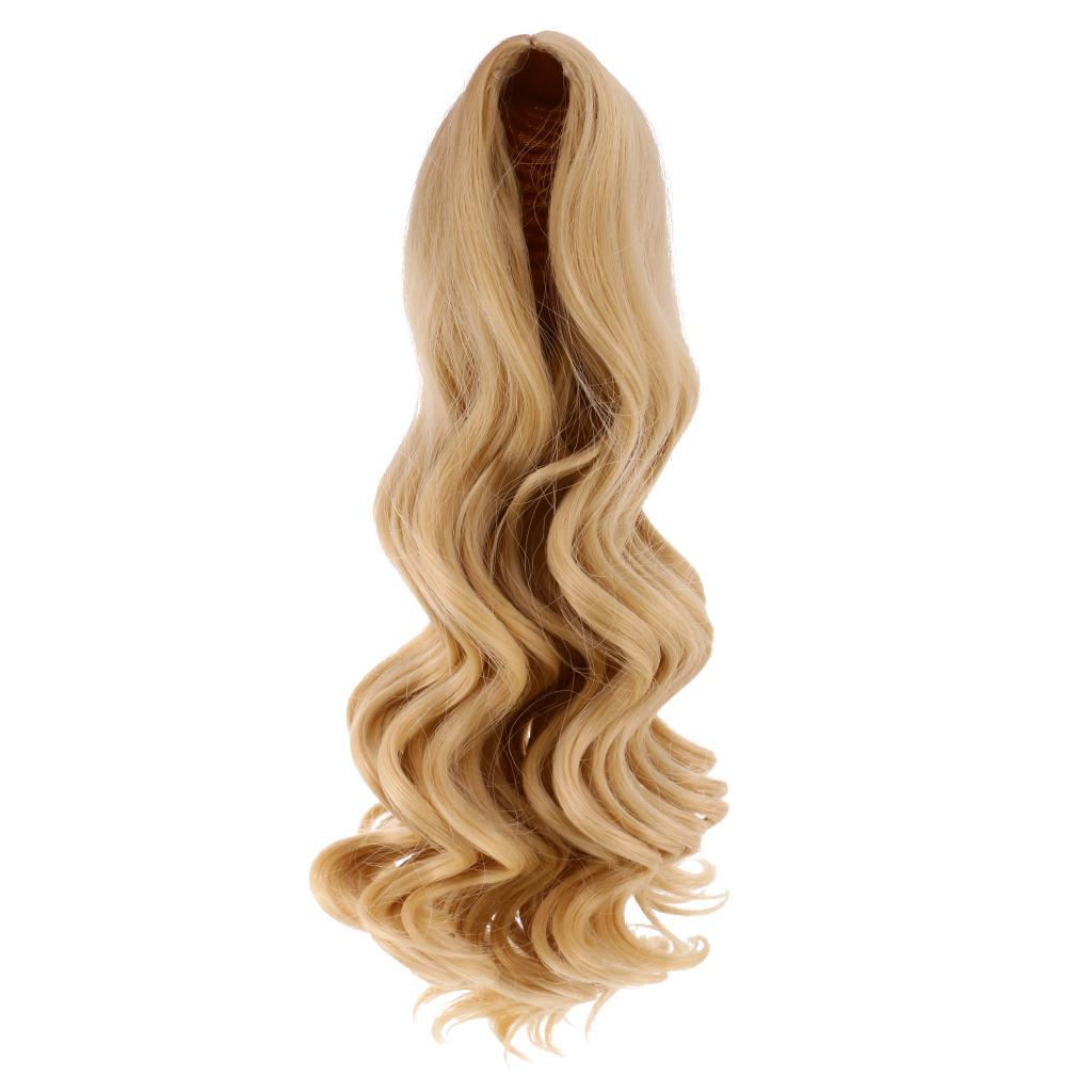 Straight-Wavy-Curly-Hair-Wig-for-18-039-039-Dolls-Clothes-Accessories thumbnail 20