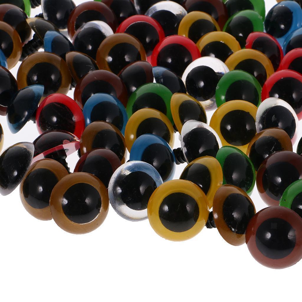 Yeux-de-Securite-Plastique-Plastique-Pour-DIY-Fabrication-Poupee-8-20mm-100Pcs miniature 10