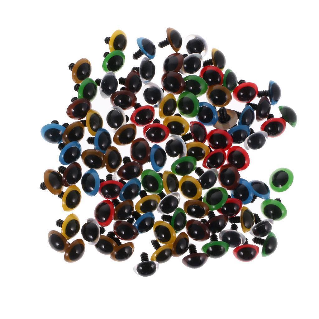 Yeux-de-Securite-Plastique-Plastique-Pour-DIY-Fabrication-Poupee-8-20mm-100Pcs miniature 13