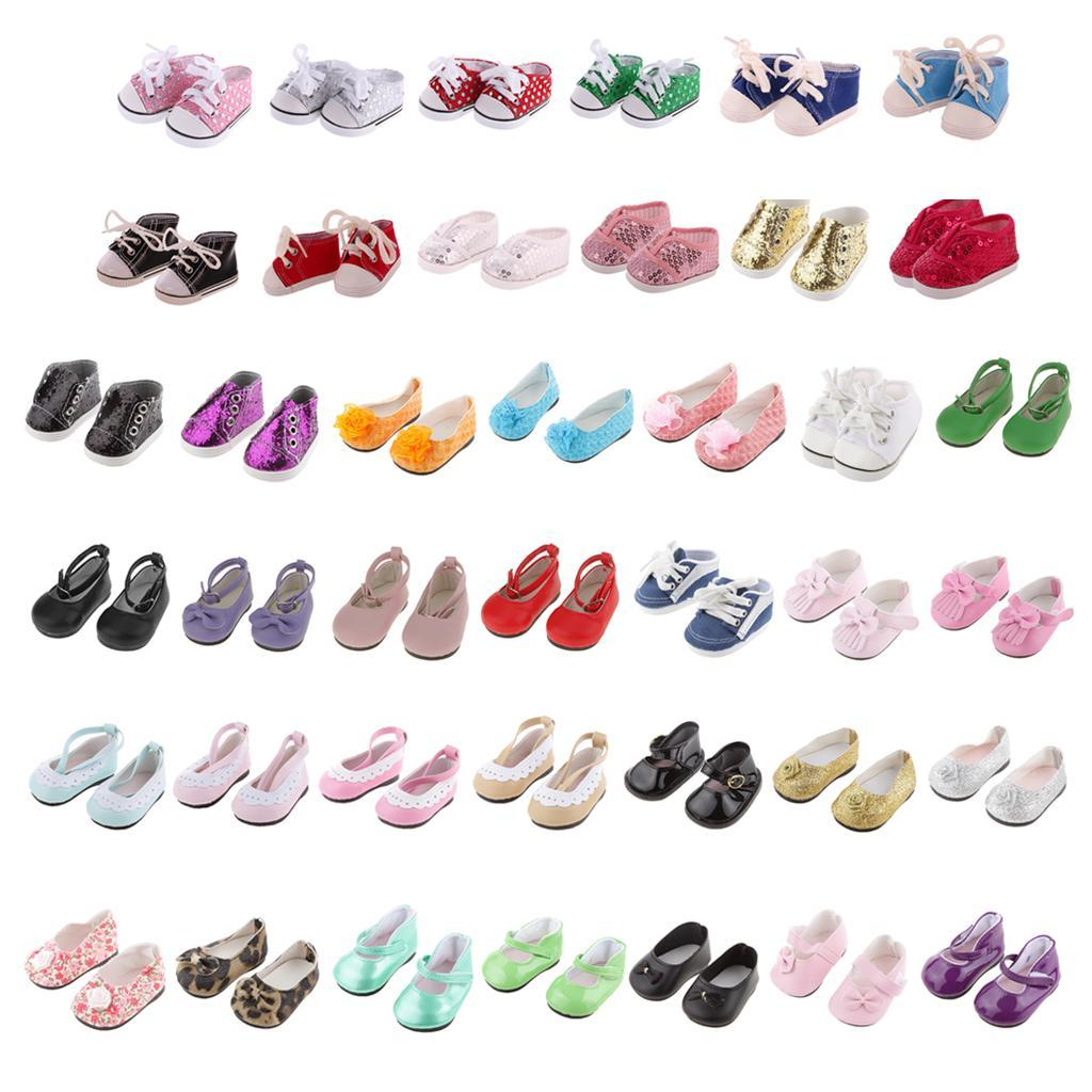 New-Cute-Pair-of-Doll-Shoes-for-18-039-039-American-doll-AG-Dolls-Clothes-Accessories thumbnail 3