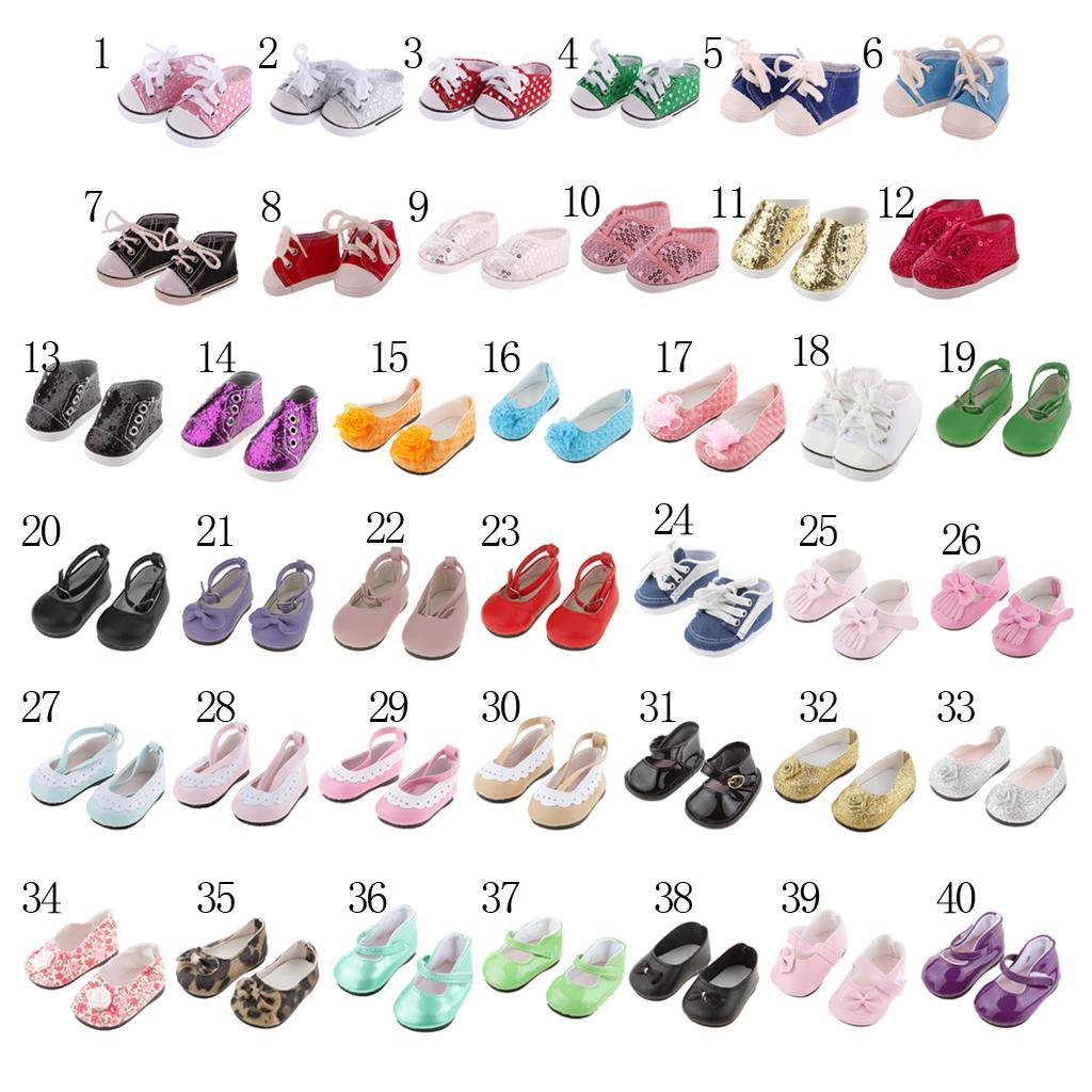 New-Cute-Pair-of-Doll-Shoes-for-18-039-039-American-doll-AG-Dolls-Clothes-Accessories thumbnail 4