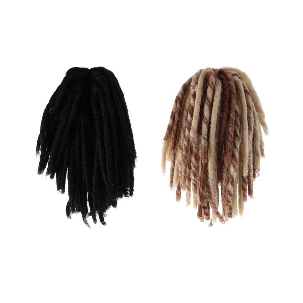 Straight-Gradient-Curly-Hair-Wig-for-18-039-039-Doll-Dress-up-Accessory thumbnail 42