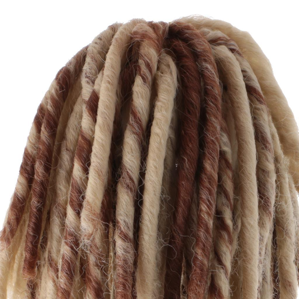 Straight-Gradient-Curly-Hair-Wig-for-18-039-039-Doll-Dress-up-Accessory thumbnail 43