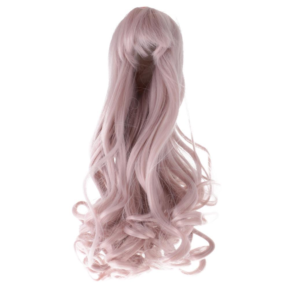 Straight-Wavy-Curly-Hair-Wig-for-18-039-039-Dolls-Clothes-Accessories thumbnail 62
