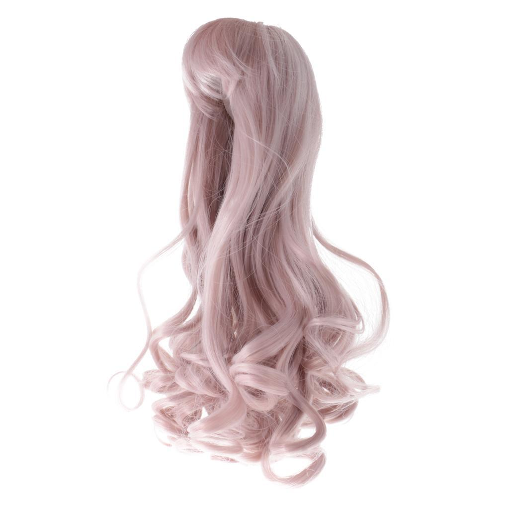 Straight-Gradient-Curly-Hair-Wig-for-18-039-039-Doll-Dress-up-Accessory thumbnail 64