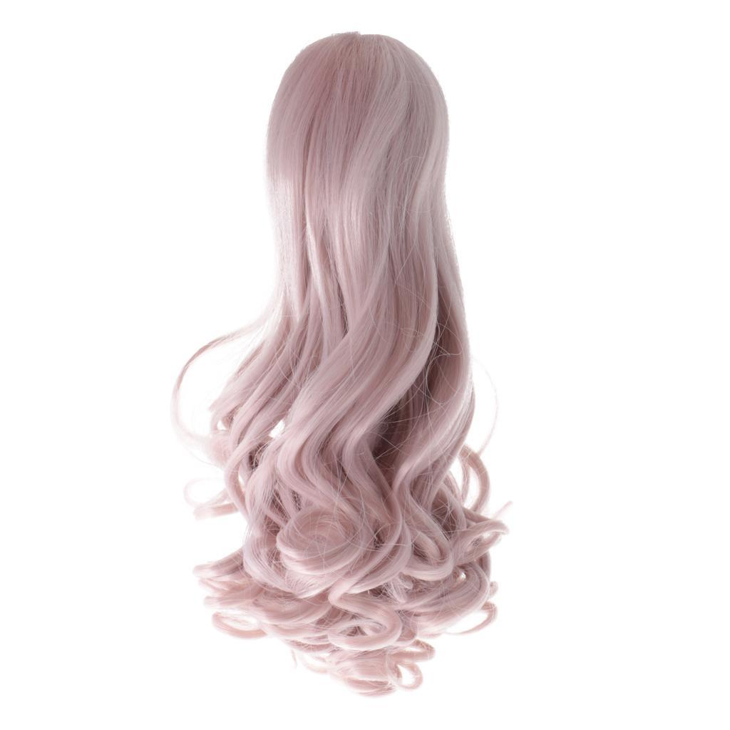 Straight-Gradient-Curly-Hair-Wig-for-18-039-039-Doll-Dress-up-Accessory thumbnail 63