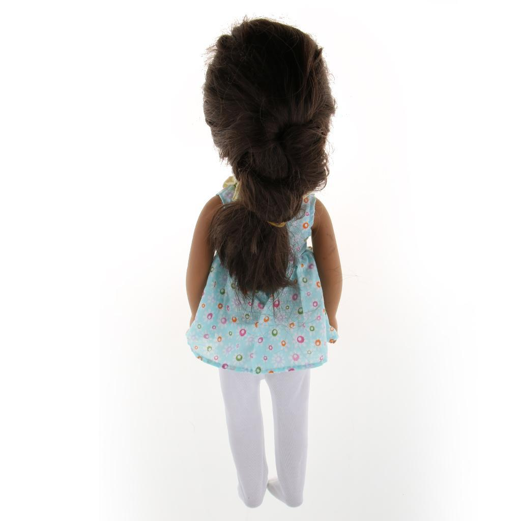 For-14-inch-Wellie-Wishers-American-Doll-Dolls-Clothing-T-shirt-Miniskirt-Romper thumbnail 22