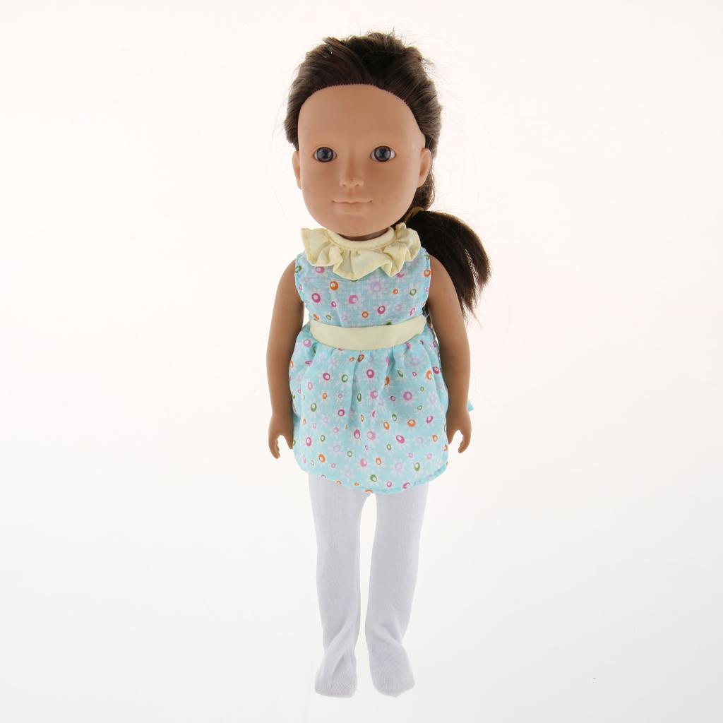 For-14-inch-Wellie-Wishers-American-Doll-Dolls-Clothing-T-shirt-Miniskirt-Romper thumbnail 21