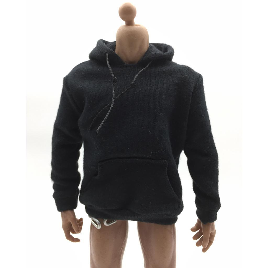 1-6-Scale-Mens-Long-Hoodie-Hooded-Sweatshirt-for-12inch-Action-Figure-Hot-Toys miniature 11