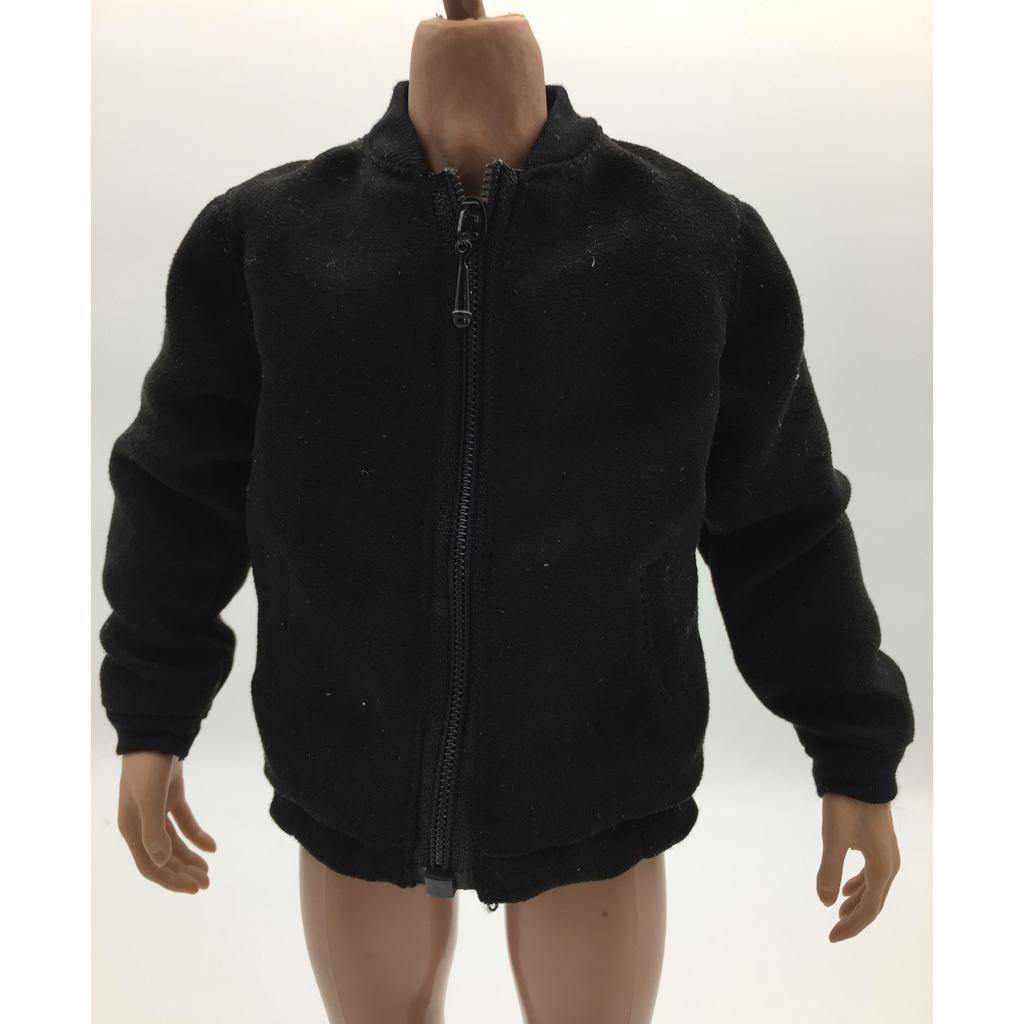 1:6 Scale Trendy Jacket Hoodie Tee Trousers Set For 12-inch Male Action Figure