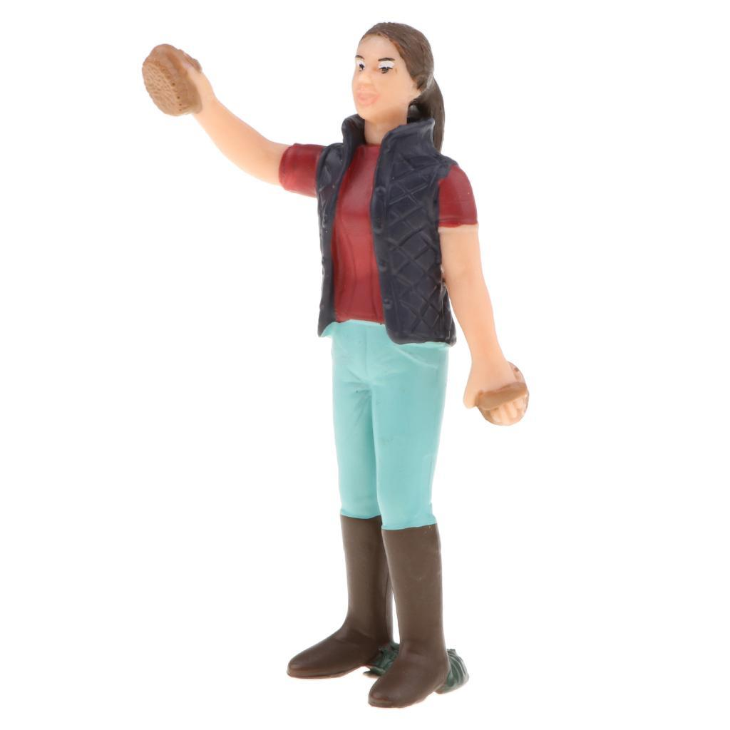 Plastic-Colorful-People-Model-Figure-Ranch-Worker-Figurines-Kid-Gift-Decor thumbnail 4