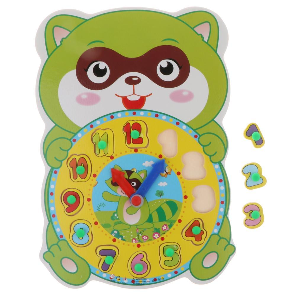 Dessin Horloge Bois Puzzle En Animé Enfants Animal Apprentissage Numérique hdCoQrBtsx