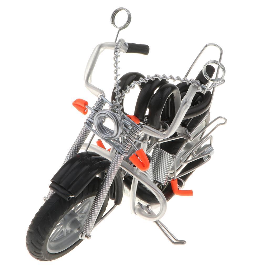 Mini-modello-di-moto-in-metallo-modello-di-moto-artigianato-perfetto-da miniatura 11