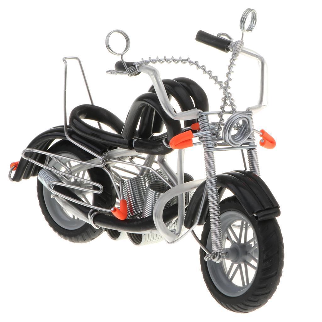 Modello-Di-Motocicletta-In-Metallo-Realistico-In-Ufficio-Vintage-Home-Decor miniatura 10