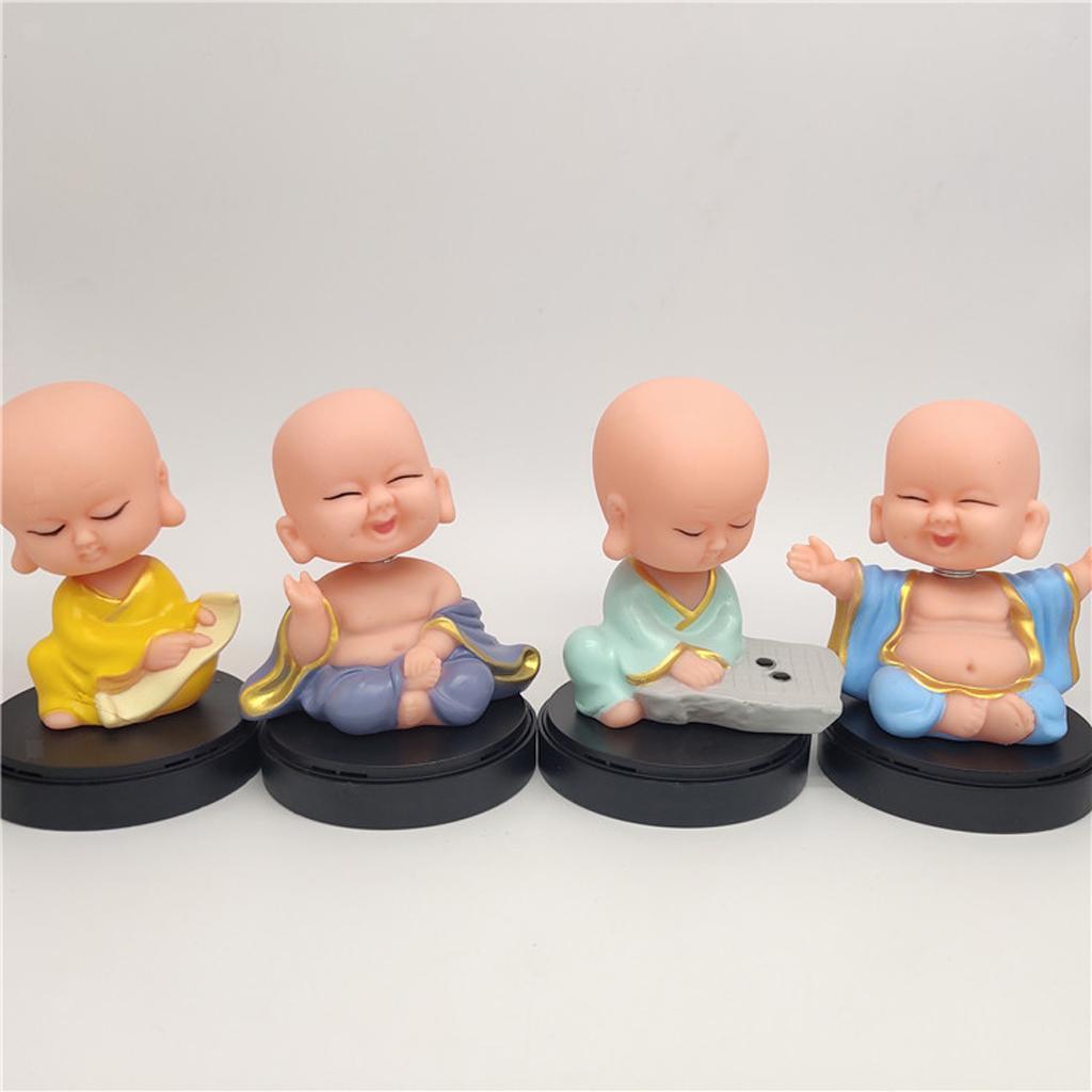 Solar-Powered-Swinging-Buddhist-Monk-Bobble-Toy-Home-Decor thumbnail 6