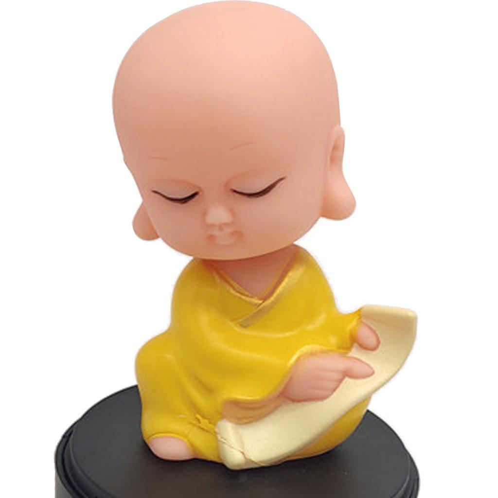 Solar-Powered-Swinging-Buddhist-Monk-Bobble-Toy-Home-Decor thumbnail 7