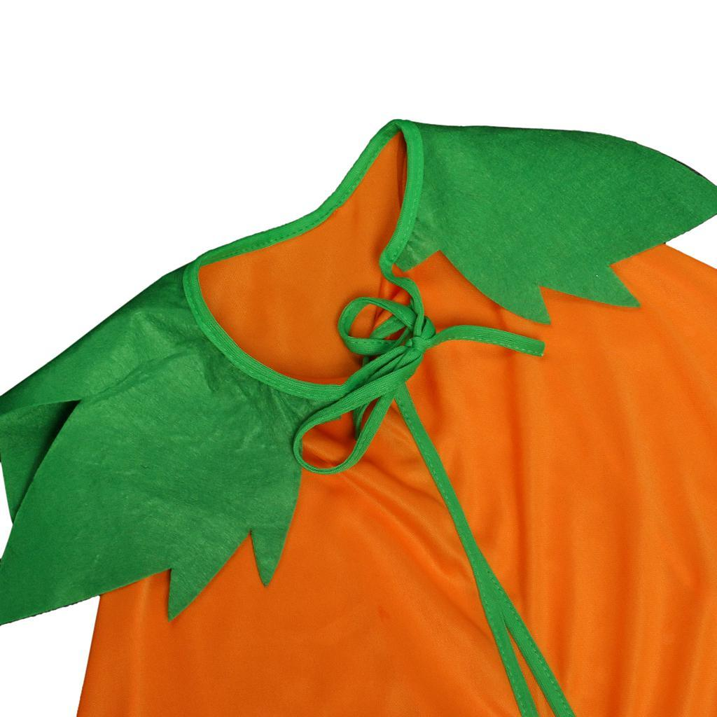 Halloween-Pumpkin-Cloak-Cape-Cosplay-Costume-Home-Party-Role-Play-Fancy-Dress thumbnail 3