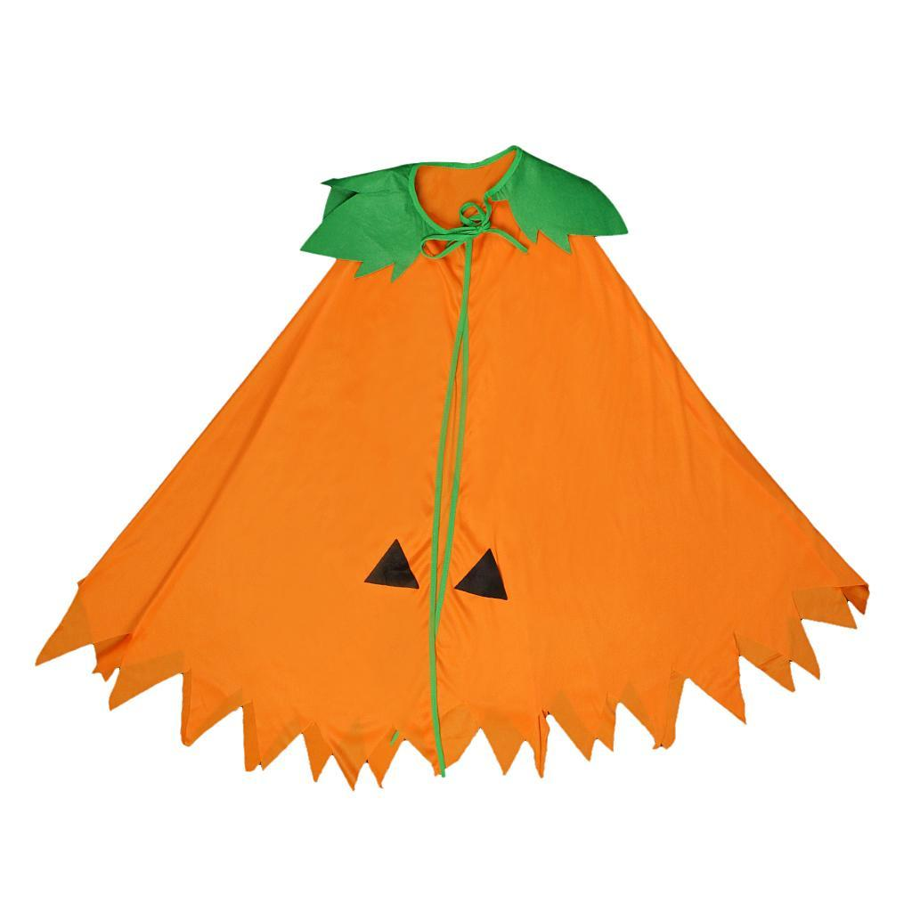 Halloween-Pumpkin-Cloak-Cape-Cosplay-Costume-Home-Party-Role-Play-Fancy-Dress thumbnail 6