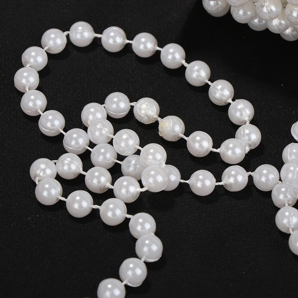 Perlen Girlande Perle auf Spule 5mm X 10 M in 9 Farben Dekor Basteln