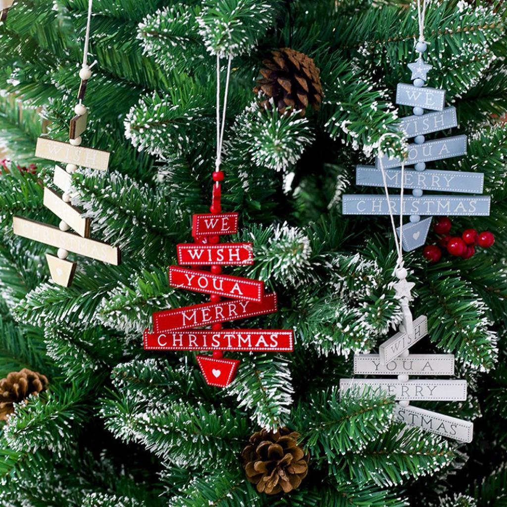 Natale-di-scrittura-del-messaggio-di-Natale-del-partito-dell-039-albero-di-forma miniatura 11