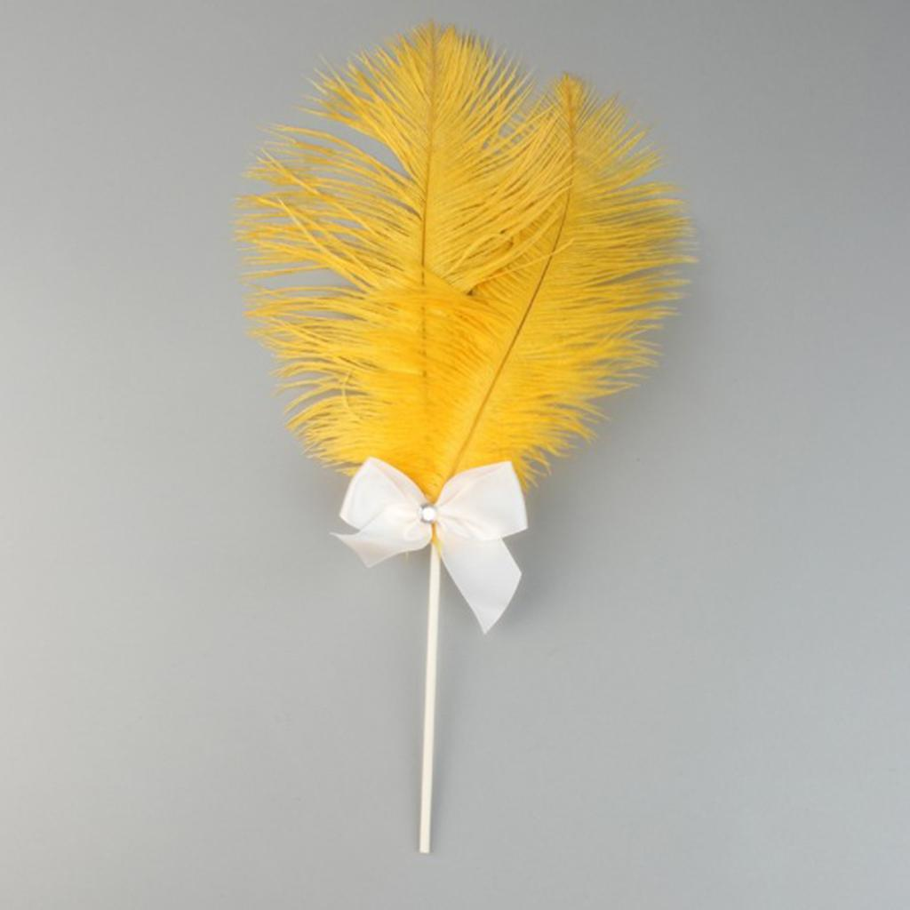 Cake-Topper-Feather-Decor-Cake-Insert-Card-For-Wedding-Party thumbnail 7