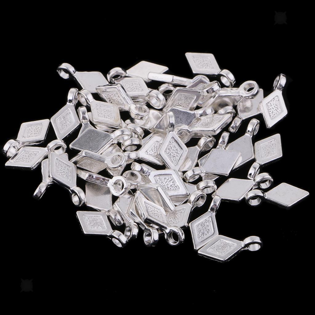 50pcs-Alloy-Rhoms-Bail-Charms-Pendants-DIY-Jewelry-Making-Finding thumbnail 7