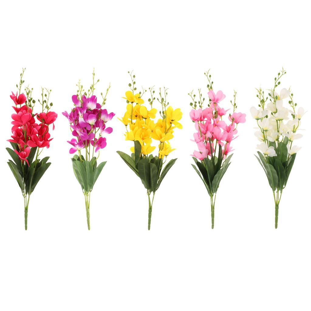 Artificial silk freesia flower bouquet wedding decor home indoor artificial silk freesia flower bouquet wedding decor home indoor outdoors izmirmasajfo