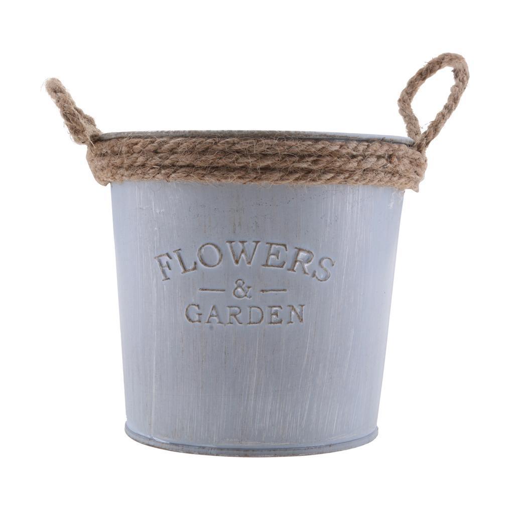 Fioriera secchio elegante vintage ferro vaso da fiori for Arredamento casa elegante