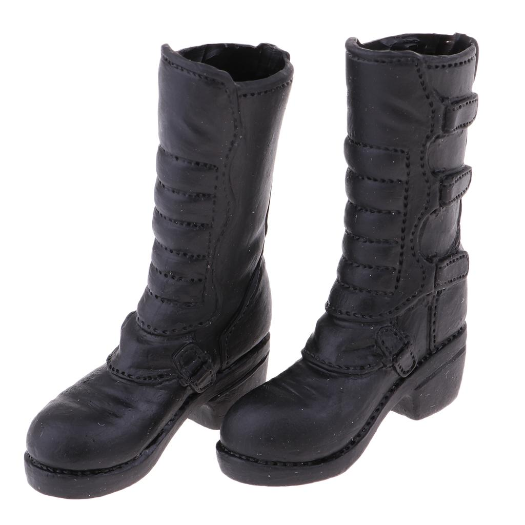Black 1//6 Female Boots Shoes for CY CG 12inch Female Hot Toys Girls Doll
