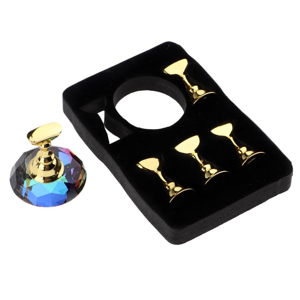 Nail Practice Display Tip Holder Magnetic Stand Manicure ...