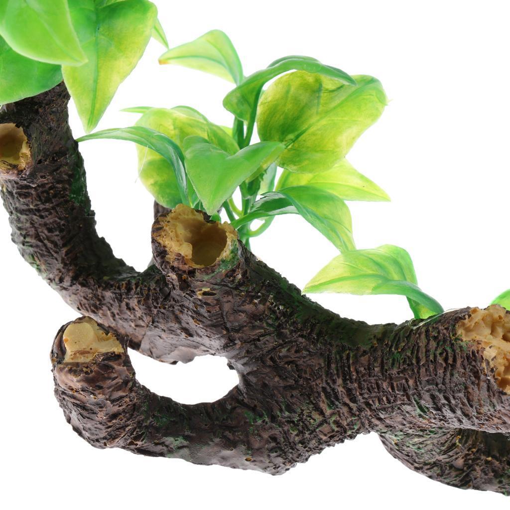 Aquarium-Decoration-Arbre-en-Resine-Ameublement-Amenagement-Paysager miniature 8