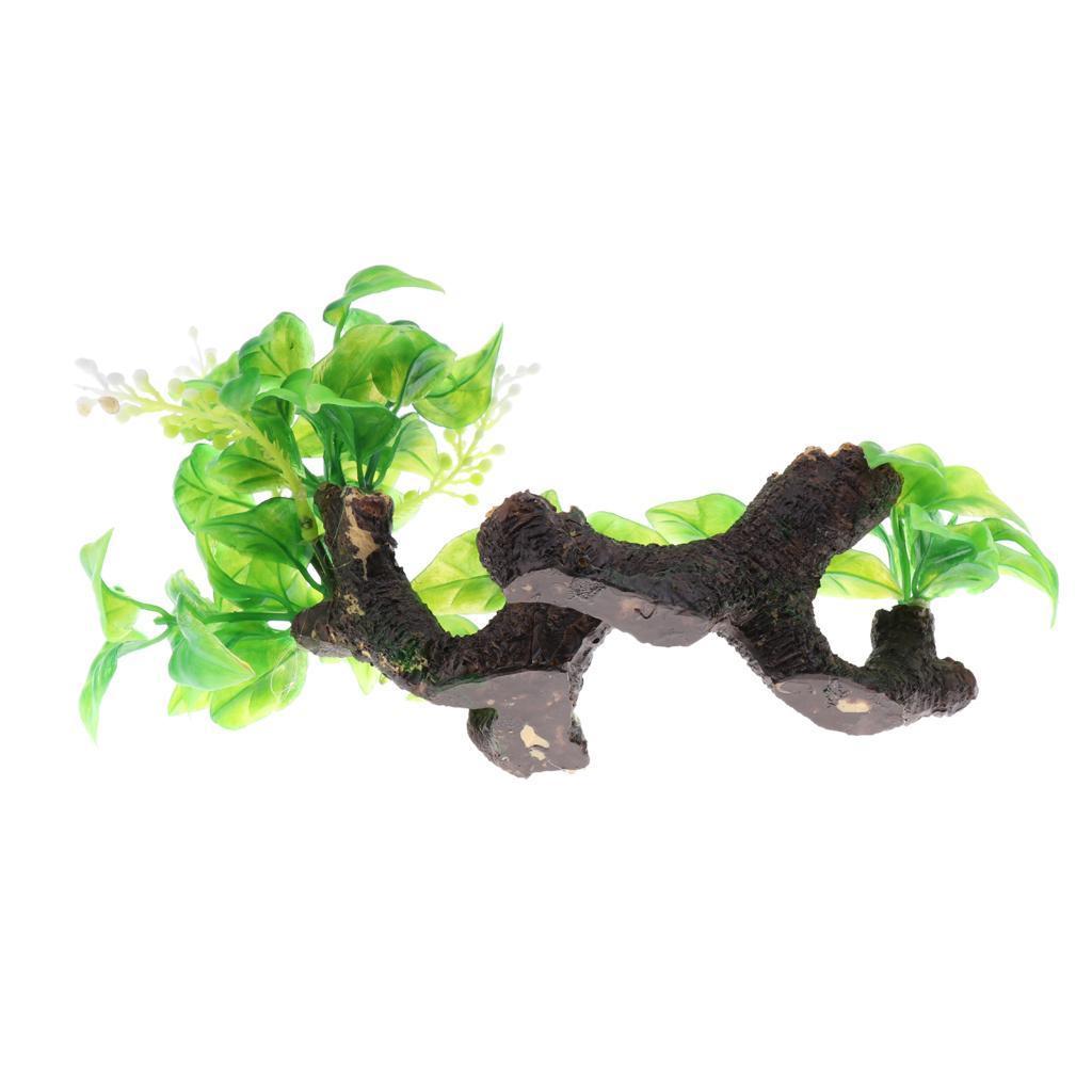 Aquarium-Decoration-Arbre-en-Resine-Ameublement-Amenagement-Paysager miniature 10