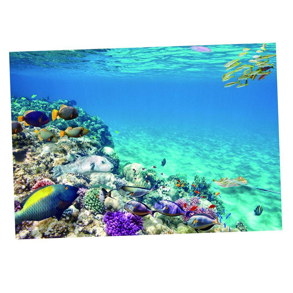 Sfondo-Stampa-Adesivi-Monocromatici-Per-Acquario-Serbatoio-da-Pesca-in-PVC miniatura 13