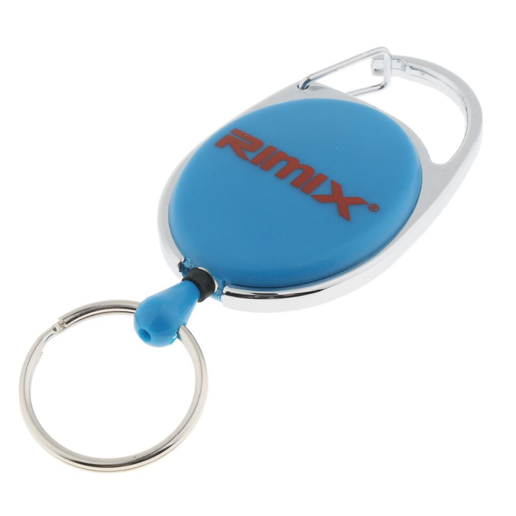 Retractable-Keychain-Carabiner-Recoil-Reel-Key-Holder-Camping-Travel-Hiking thumbnail 6
