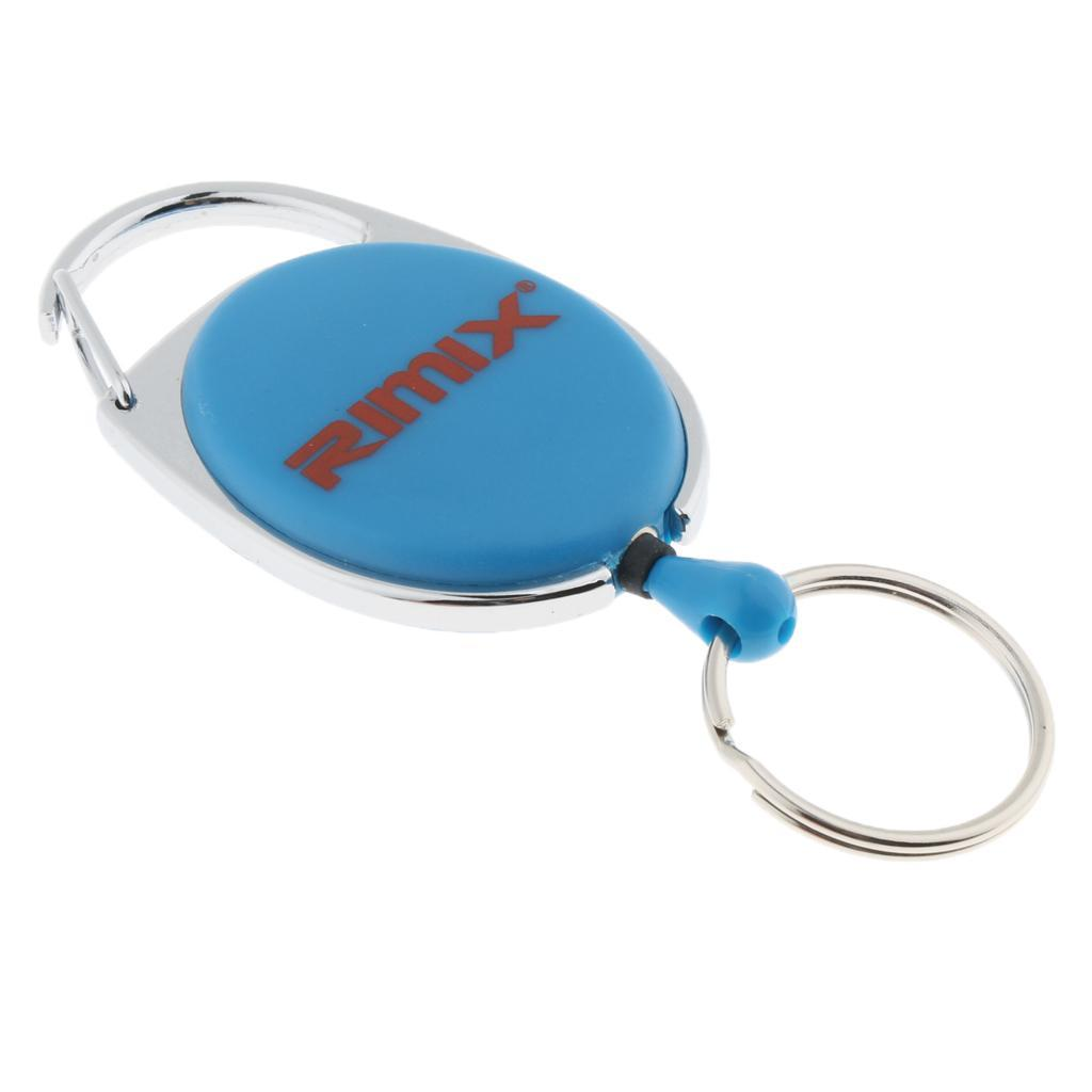 Retractable-Keychain-Carabiner-Recoil-Reel-Key-Holder-Camping-Travel-Hiking thumbnail 7