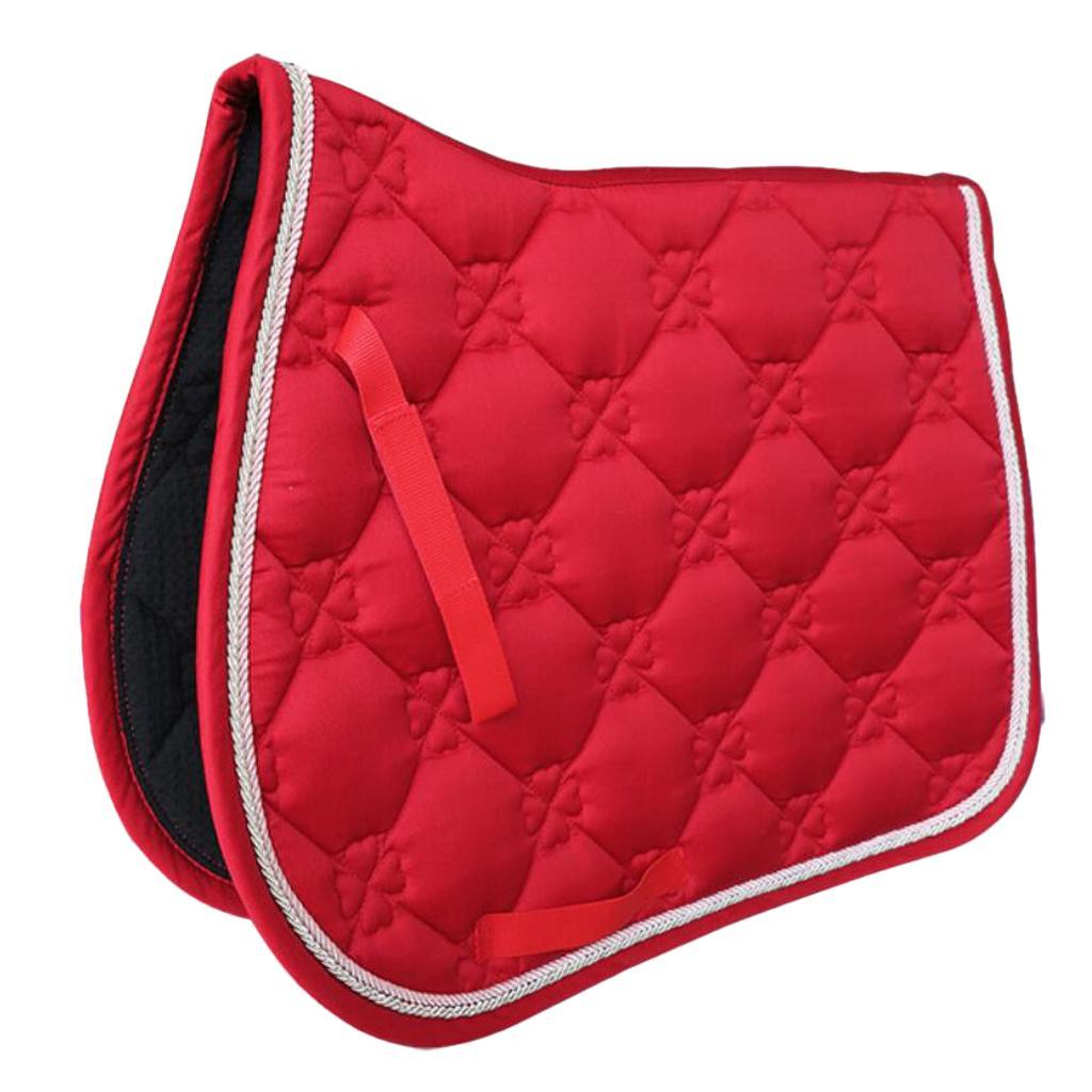 Jumping-Event-Shock-Absorbing-English-Horse-Saddle-Pads-Saddlecloths-69x52cm miniature 6