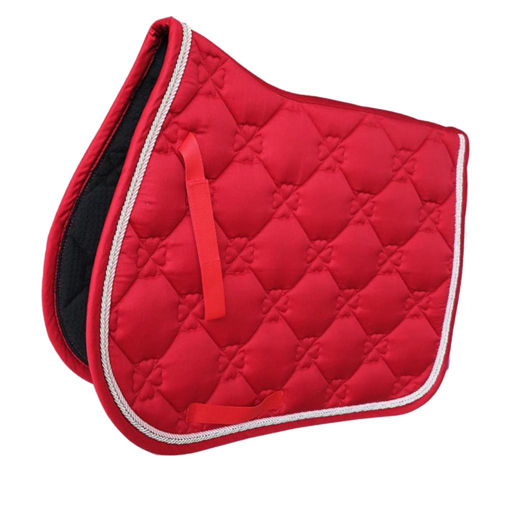 Jumping-Event-Shock-Absorbing-English-Horse-Saddle-Pads-Saddlecloths-69x52cm miniature 7