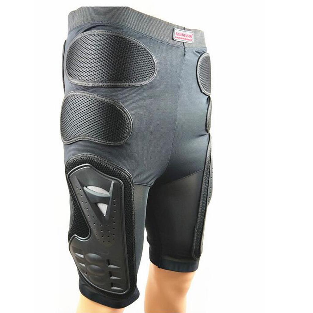 Moto-Racing-Ski-Armour-Tampons-Hanches-Jambes-Protecteur-Shorts-Pantalons miniature 8